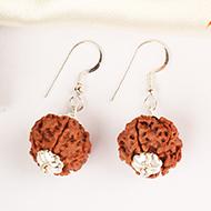 Earrings of Rudraksha Beads - Design V