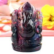 Ganesha in Fluorite - 199 gms