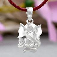 Ganesh Locket in Pure Silver - Design LIV