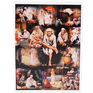 Sai Baba Glittering Photo - II