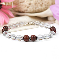 Sphatik and Red sandalwood Bracelet