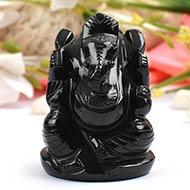 Black Agate Ganesha  - 234 gms