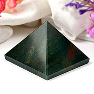 Pyramid in Natural Bloodstone