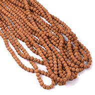 Semi Chikna Rudraksha Mala - Set of 9 - 7mm