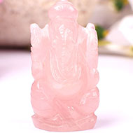 Rose Quartz Ganesha - 50 gms