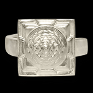 Shree Yantra Meru Ring in Silver