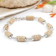 Designer Tulsi bracelet in silver