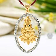 Ganesha - Tirupati Balaji Locket in Pure Gold