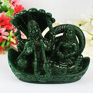 Jade Vishnu Lakshmi statue