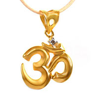 Om Locket in pure Gold - 1.4 gms - I