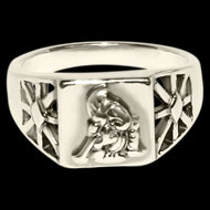 Ganesha Ring in Pure Silver - Design IV