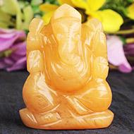 Yellow Jade Ganesha - 117 gms