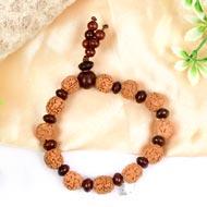 5 mukhi Guru bracelet from Java with Red Sandalwood beads