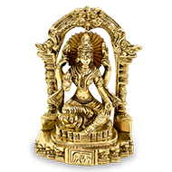Mahalakshmi in Brass