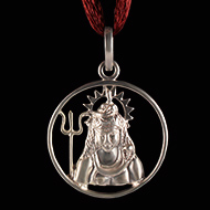 Shiva Locket in Pure Silver - Design XII