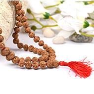 Rudraksha Mala 8mm - Semi Chikna Beads