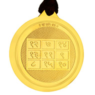 Shani yantra with Maa Kali Devi - Gold Plated