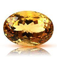 Yellow Citrine - 25.65 carats - Oval