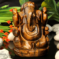 Tiger Eye Ganesha - 196 gms