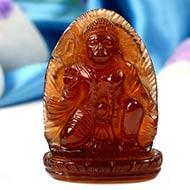 Hanuman in Gomedh - 168.80 Carat
