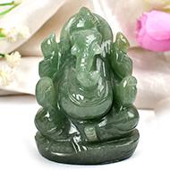 Ganesha in Austrailian Green Jade - 198 gms
