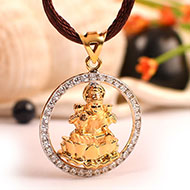 Lakshmi Locket - in Pure Gold - Design I