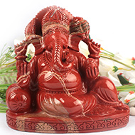 Ganeshji in Red Jasper - 2.306 Kgs