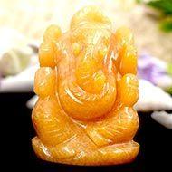 Ganesha In Yellow Jade - 89 gms