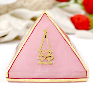 Natural Rose Quartz Pyramid For Love and Harmony