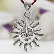 Surya Locket in pure silver - I