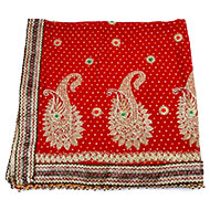 Peacock Red Mata ki Chunri