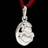 Ganesh Locket in Pure Silver - Design VI
