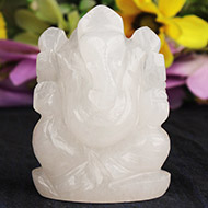 White Agate Ganesha - 131 gms