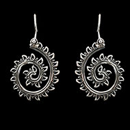 Earrings in pure silver - 11.65 gms