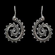 Earrings in pure silver - 11.65 gms