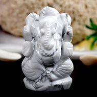 Howlite Ganesha - 49 gms