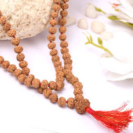 7 mukhi Mahalaxmi mala - 8 mm - Chikna beads