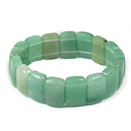 Green Aventurine Bracelet-Cushion beads
