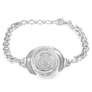 Narsimha dev silver bracelet