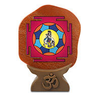 Shree Santhan Gopal Yantra on Red Jade