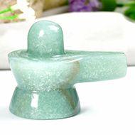 Light Green Jade Shivlinga - 71 gms - I