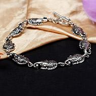 Ganesh Bracelet in pure silver - Design I