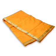 Yellow Silk Dhoti with Shawl