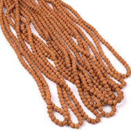 Semi Chikna Rudraksha Mala - Set of 9 - 9mm