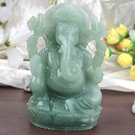 Ganesha in Light Green Jade - 907 gms