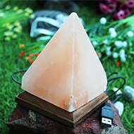 Himalayan Rock Salt Pyramid Lamp - Medium