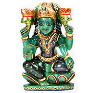 Exotic Laxmi in Green Jade - 1.533 Kgs