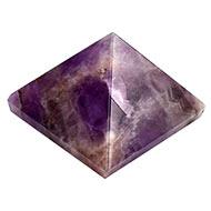 Pyramid in Natural Amethyst - 44 gms