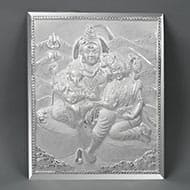 Shiv Parivar in pure silver