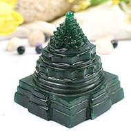 Green Jade shree Yantra - 200 gms